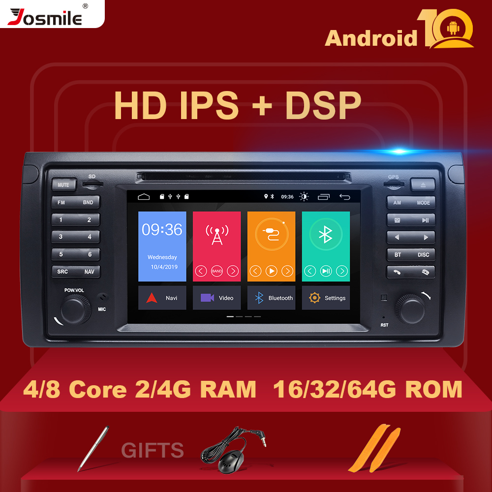 IPS 1 din Android 10 Car DVD Player For BMW X5 E53 E39 multimedia Radio audio GPS stereo navigation head unit DSP 4GB 64G 8core image