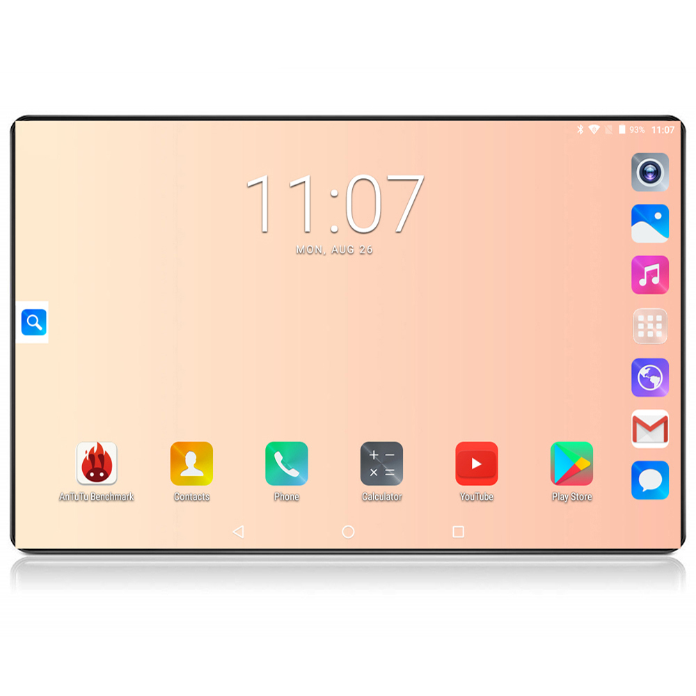 2020 Google Tablet 10 Inch Tablet 6GB RAM 128GB ROM Octa Core 1280x800 IPS 8.0MP Android 8.0 4G FDD LTE Wifi GPS Tablet 10 10.1