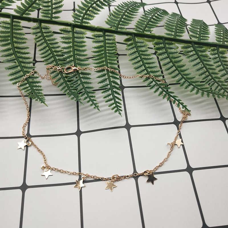 قلادة نسائية من PICKYZ موديل بوهيمي بسلسلة ذهبية على شكل نجمة قلادة نسائية