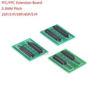 2 uds FPC FFC Flexible Cable plano Placa de extensión 0,3mm paso 25 31 39 45 51 PIN conector 0,3mm