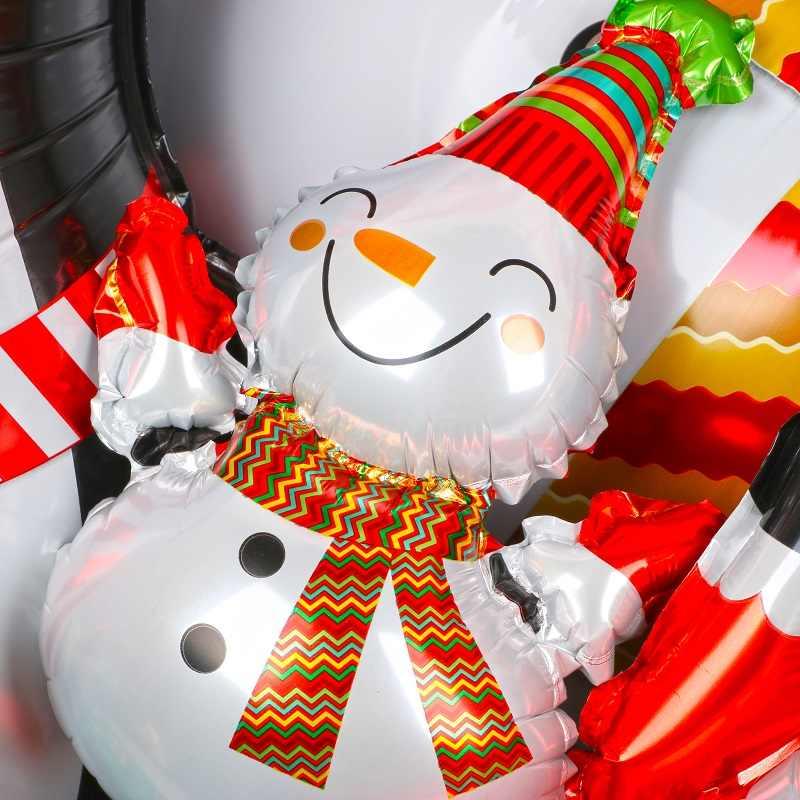 Рождественские украшения Воздушные шары Санта-Клаус Снеговик рождественские фольги Воздушные шары украшения для рождественской вечеринки Рождественский новогодний декор