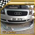 Автомобильный Стайлинг для Audi TT MK1 (тип 8N) 1998-2006 AB Стиль углеродное волокно Передняя губная отделка обшивка кузова Комплект переднего бампер...