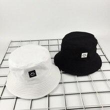 Unisex cara sonriente sombrero de cubo protector solar gorra para exteriores sombrero pescador mujeres hombres sombrero chapeau gorras dobles
