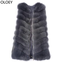 2019New Real Fur Vest Fur Coat Fashion Fox Fur Vest Coat High Quality real fox fur jacket women Winter Fox fur coat Zipper Vest cheap OLOEY Casual Thick Warm Fur V-Neck REGULAR Sleeveless Thick (Winter) Full Pelt Zippers Sleeveless Vest 2019072 2019071