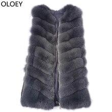 2019New Real Fur Vest Fur Coat Fashion F