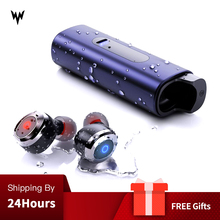 Whizzer auriculares TWS WA 11, inalámbricos por Bluetooth v5.0, Mini auriculares estéreo impermeables IPX7 con micrófono