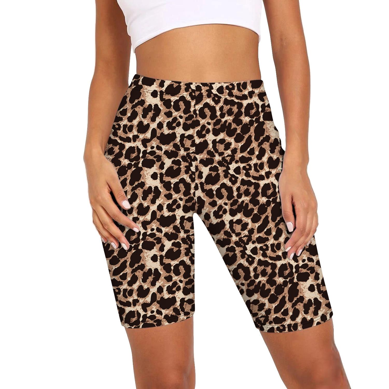 Шорты женские с леопардовым принтом и змеиным принтом, модные облегающие спортивные Велосипедки с завышенной талией, одежда для активного ...