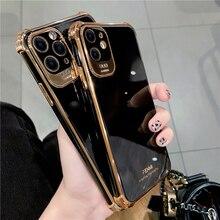 جراب أسود من السيليكون الفاخر من Boucho لهاتف iPhone 12 Pro Max Mini 11 Pro Max XS X 7 8 plus SE XR غلاف خلفي ناعم