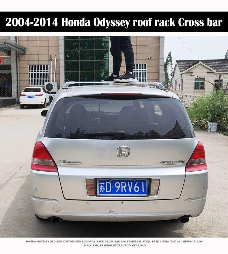 Aluminum Alloy Roof Rack For Honda Odyssey Mvp Rb3 Rb4 Elysion Rails Bar Luggage Carrier Bars Top Cross Bar Rack Rail Boxes Roof Racks Boxes Aliexpress