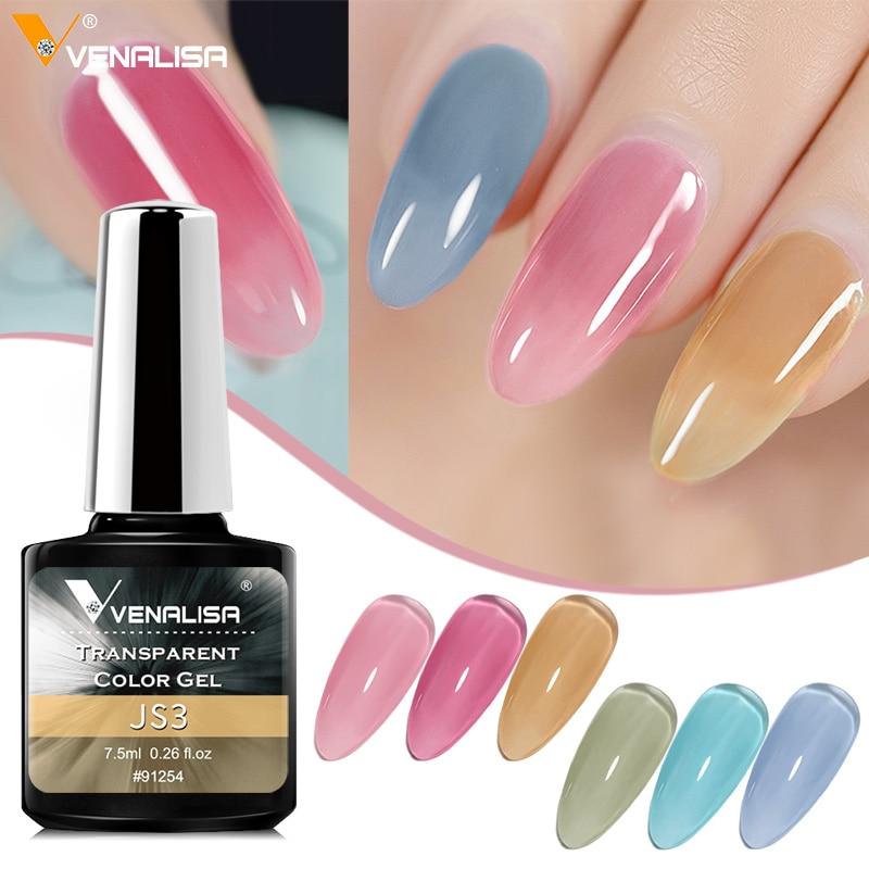 Venalisa Transparent Gel Polish Varnishes Hybrid Nails For Manicure 7.5ML Ice Spar Cat Eyes Soak off Enamel UV Gel Nail Polish 3