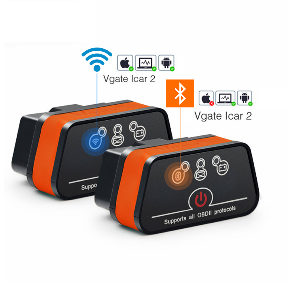 Vgate iCar2 Bluetooth/Wifi OBD2 Scanner voor Android/PC/IOS elm327 OBD 2 Auto Diagnostiek Autoscanner ELM 327 OBDII Code Reader title=
