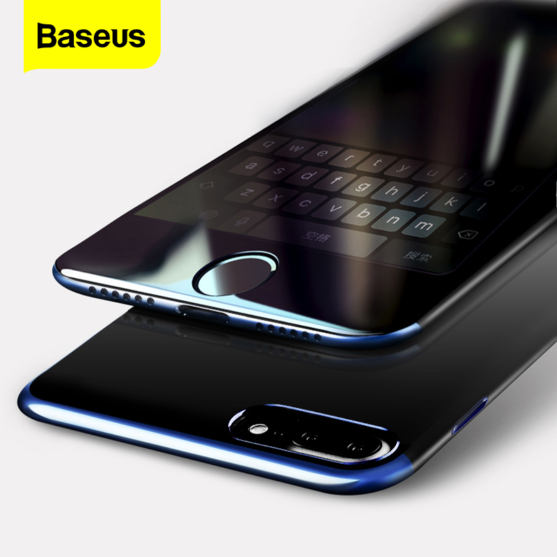 Baseus 2Pcs Screen Protector For iPhone 7 8 Plus 0.23mm Anti peeping Full Cover 3D Protective Tempered Glass Flim For iPhone 7 8|Phone Screen Protectors| |  - title=