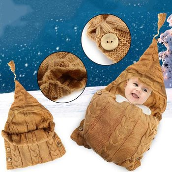 newborn photography props   crochet  baby clothes Sleeping Bags boy girl accessories costume infant handmade outfit 1set newborn police design photography props infant toddler costume outfit crochet