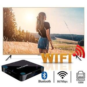 Image 5 - X3 Plus Amlogic S905X3 أندرويد 10.0 صندوق التلفزيون 4GB 32G 64G 128G 100M واي فاي 4K 8K بلوتوث مساعد صوت مجموعة صندوق