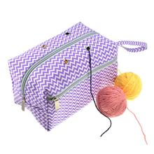 Multifunctional Durable Canvas Storage Bag With Large Compartment Knitting Needles Yarns Crochet Hooks Organizer Bag For Travel