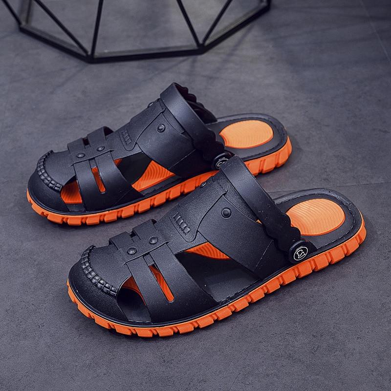 Summer Men's Soft Rubber Shoes Home Slippers Male Garden Shoes Beach Sandals Mules Antiskid Bathroom Slippers Flip Flops