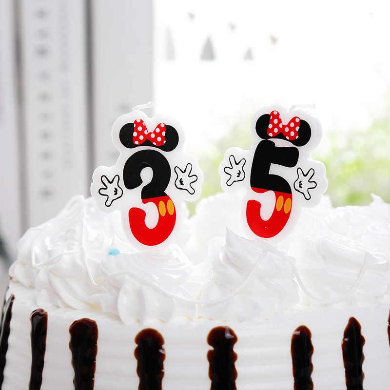 كب كيك عيد ميلاد سعيد كعكة توبر شمعة 0 1 2 3 4 5 6 7 8 9 الذكرى كعكة أرقام العمر شمعة لوازم الحفلات الديكور.