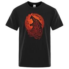 Norse Mythology Vikings Fenrir wolf T Shirt For Male Quality