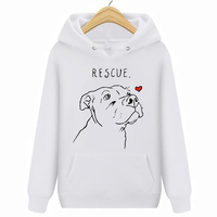Rescue Dog Pitbull Rescue Tee Hoodies Sweatshirts Size S XXXL