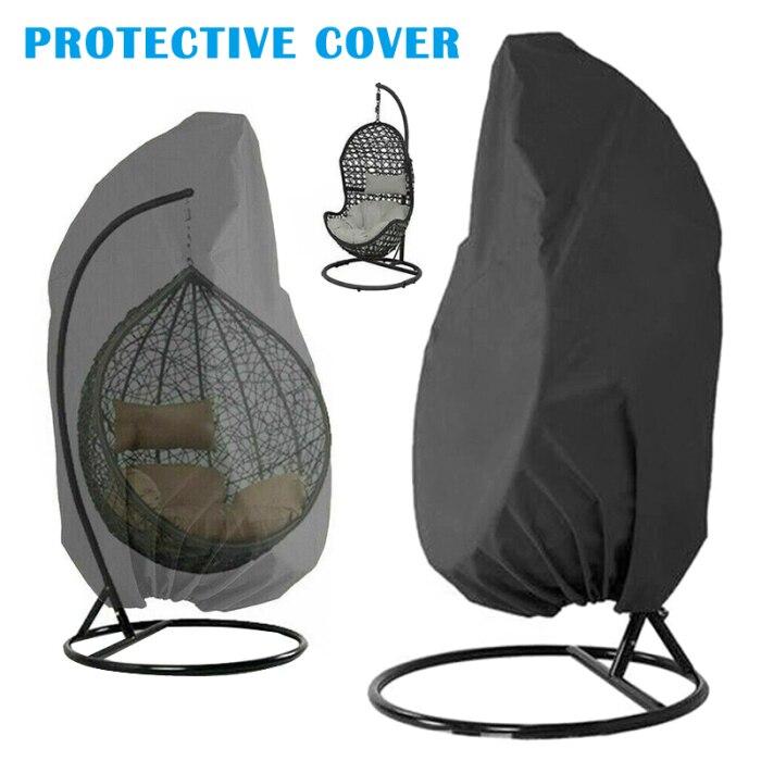 iSunday Outdoor Patio Hanging Chair Cover Heavy Duty Egg Swing Chair Covers Dust Cover Outdoor Garden Black,115Cmx190Cm