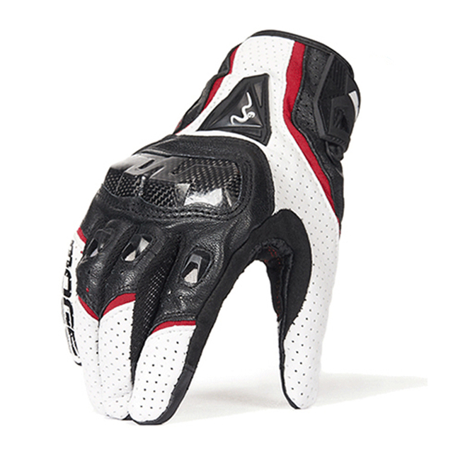 Luvas de couro para motocicleta, luvas de couro para motocicleta, motocross, dedos completos, M XXL