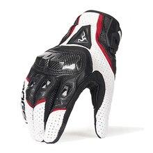 夏/冬オートバイのシープスキン革手袋男性女性モトクロス手袋フルフィンガー乗馬モト手袋guantes手袋M XXL