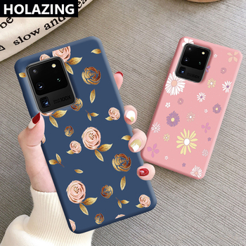 Gold Rose Flower Case for Samsung Galaxy S20 Ultra Note 10 Plus S10 S9 S8 Note 10 9 8 Luxury Wonen Cover Soft Silicone image
