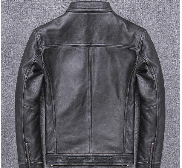 H0611cbaffd8a46389b37580ae46066a9w YR!Free shipping.sales.Clearance.$99.99 cowhide jacket.mens genuine leather coat.fashion vintage casual leather outwear.classic