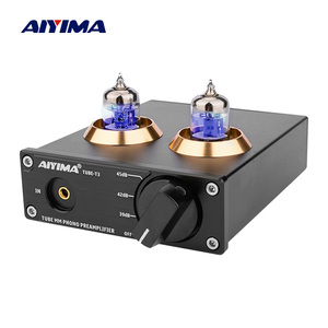 AIYIMA HiFi Vacuum 6J2 Tube MM Phono Preamplifier Vinyl Record Player Stereo Tube Preamp Amplifier Turntable Phonograph DIY 12V