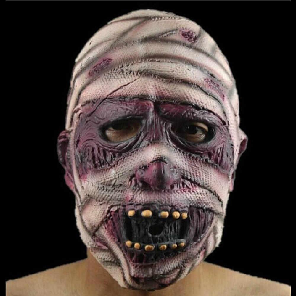 Halloween krwawy przerażający horror maska dorosły Zombie potwór wampir maska kostium lateksowy strona na całą głowę Cosplay maska Masquerade rekwizyty