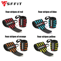 1Pair Wristband Support Gym Adjustable Stripe Wristand Elastic Weightlifting Breathable Wrist Support Safety Gym Sport Bandage