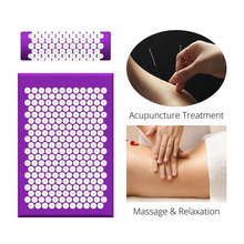 Massage-Mat Acupuncture-Mat Kuznetsov Applicator Pillow-Set Yoga for Back-Neck Pain-Relief