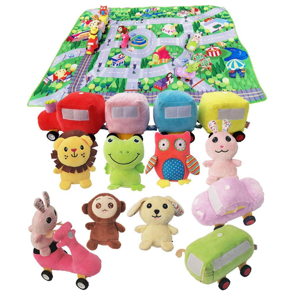 Tapis pour enfants tapis de développement doux coton bébé tapis de jeu jouets pour enfants tapis de jeu Puzzles tapis dans la pépinière avec des animaux Plus jouet