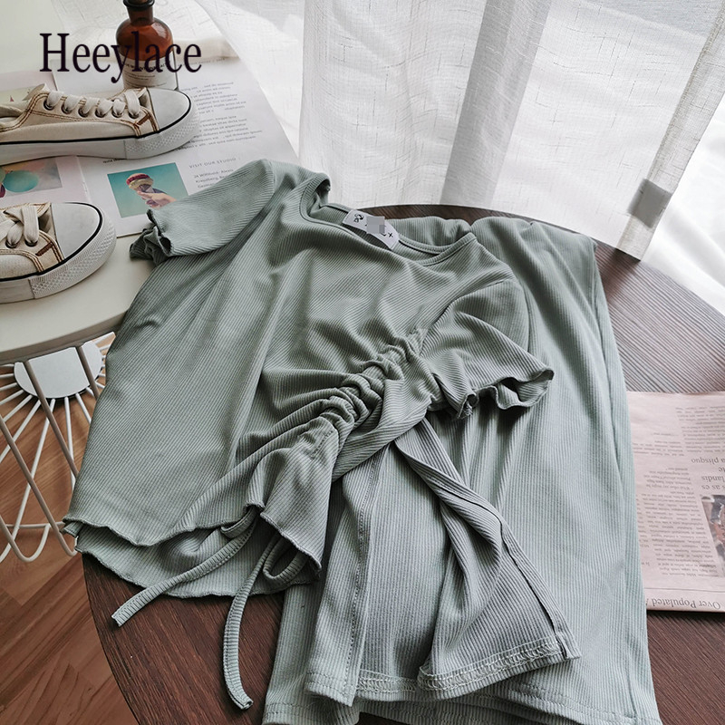 Women's Sets Clothes New Summer Sportswear Side Pleated Tops + Loose Wide Leg Pants Suits Woman Two Piece Set Beach Sexy Twinset