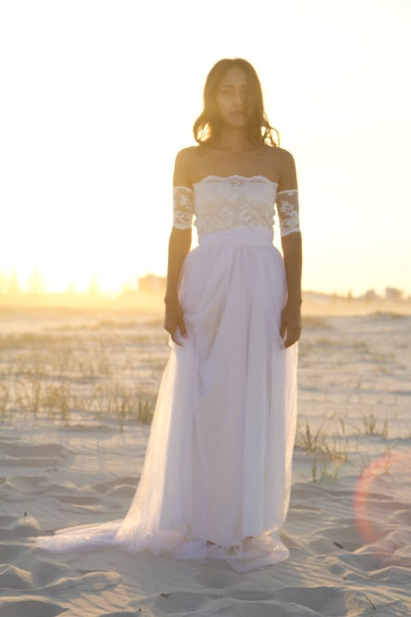 Bateau Boat Neck Short Sleeve Chiffon Latest Simple Lace Summer Beach Bridal Gown 2018  Vestido De Noiva Bridesmaid Dresses