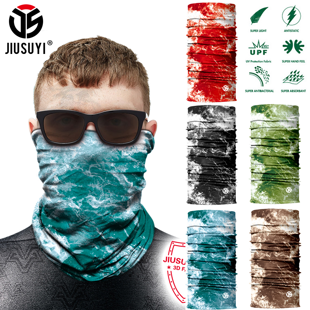 3D Seamless Magic Head Shield Neck Gaiter Breathable Half Face Cover Bandana Tube Scarf Headband Balaclava Men Women Dustproof