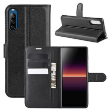 Luxury PU Leather Flip Case for Sony Xperia L4 Card Holder Protective Wallet Phone Cover for Sony Xperia L4 Coque protective pu leather top flip open case for sony xperia z l36h black