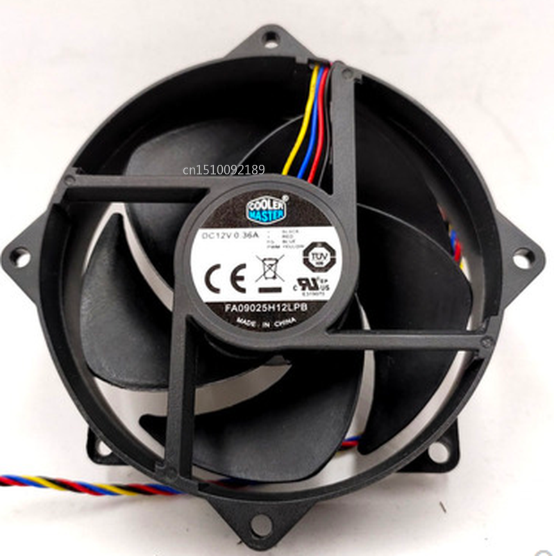 Free Shipping FA09025H12LPB DC12V 0.36A 4Lines PWM For Intel 115X 1151 1150 1155 Computer CPU Cooling Fan With Extended Line