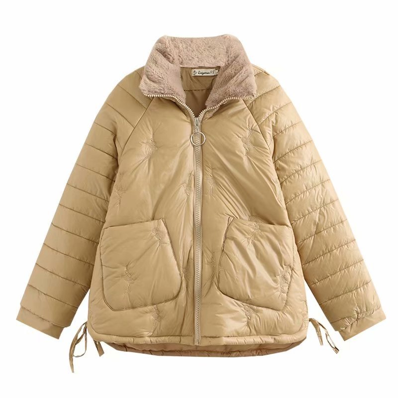 Winter Short Parka Women Oversize Padded Jacket Raglan Sleeves Down Cotton Coat Warm Outerwear Fashion Casual Loose Clothes 2020