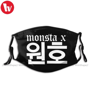 The Boyz Kpop Mouth Face Mask Monsta X Wonho Name Facial Mask with Filters Fashion for Adult Funny Mask