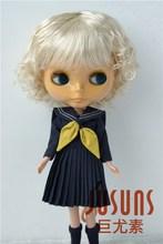 JD260 大サイズ 9 10 インチ 10 11 インチ人形のかつらかわいい合成モヘアbjdかつら女性のわずかな波人形の髪人形アクセサリー