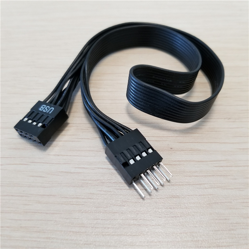 Motherboard Mainboard 9Pin USB 2.0 Male To Female Extension Dupont Data Cable Cord Wire Line 30cm For PC DIY