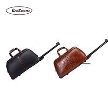 BeaSumore Дорожная сумка из искусственной кожи с большой вместительностью, Мужская многофункциональная сумка на колесиках, сумка на колесиках 20 дюймов, чемоданы на колесиках