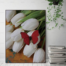 Pictures art wall abstract painting prints flower on canvas home decoration for living room Wall poster Canvas