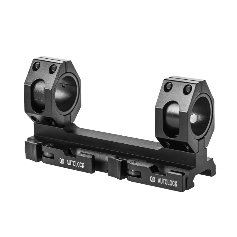 QD Auto Lock Quick Release One Piece Scope Mount 30mm/1 Inch Scope Dual Rings Weaver Picatinny Rail AR15 AK47 Hunting Attachment image
