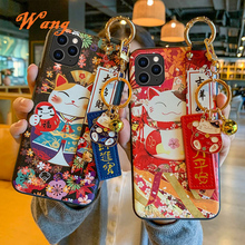 מזל חתול צמיד TPU טלפון נייד מקרה עבור Huawei P30 P40 מגן כיסוי עבור nova3 4 5 honor20pro סיליקון מקרי פגז