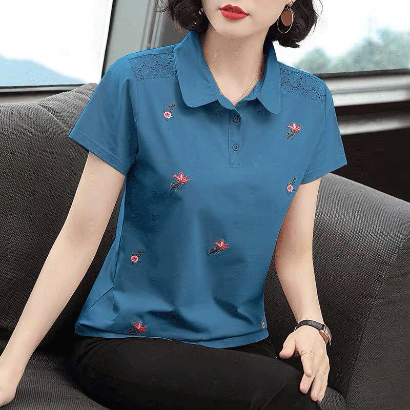 Summer Fashion Polo Shirt Women New Casual Short Sleeve Slim Polos Mujer  Shirts Tops Plus Size Female Cotton Polo Shirt ZZ0218|Polo Shirts| -  AliExpress
