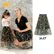 Girls new pettiskirt cute fashion camouflage skirt baby princess dress elastic waist tulle girl