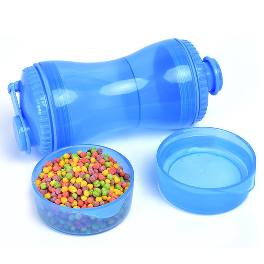 Portable Pet Dog Water Bottle Outdoor Training Food Storage Bottle PP Dogs Water Dispenser for Large Dogs Pets Accessories Stuff
