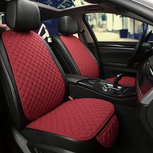 Image 4 - להתחמם בחורף מכונית פשתן מושב כיסוי מגן קדמי או אחורי מושב כרית כרית כרית חזרה אביזרי רכב מתאים עבור כל